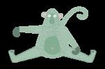 Monkey_sitting_both-legs-